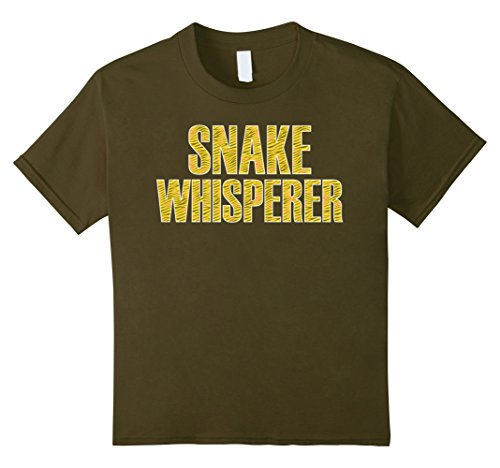 Snake Pattern Design (Kids Snake Whisperer Reptile Design Pattern Lover T-Shirt 12 Olive)