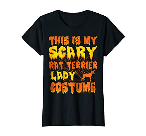 Womens This Is My Scary Rat Terrier Lady Costume Halloween -