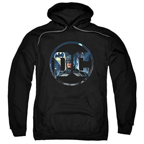 Batman Hoodie Mask (Batman DC Comics Logo Pullover Hoodie Sweatshirt & Stickers)