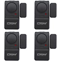 Doberman Security SE-0129-4PK Mini Entry Defender with chime - 4 Pack (Black)