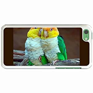Custom Fashion Design Apple iPhone 5C Back Cover Case Personalized Customized Diy Gifts In Colorful parrots White