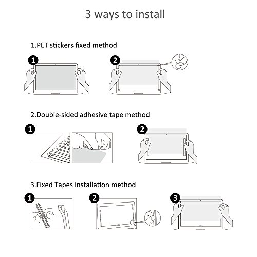 Pavoscreen Blocking Blue Light Screen Protector for MacBook Pro 15'' Touch Bar (A1707) Mid 2017/2018 Model,Protect Eyes Bubble Free Full Coverage MacBook Pro 15'' Screen Filter by Pavoscreen (Image #5)