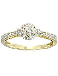 10k Yellow Gold White Diamond Ring (1/10cttw, H-I Color, I2-I3 Clarity)