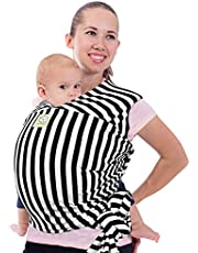 Baby Wrap Carrier - All in 1 Stretchy Baby Sling - Baby Carrier Sling - Baby Carrier Wraps - Baby Carriers for Newborn, Infant - Baby Holder Straps - Baby Slings - Baby Sling Wrap