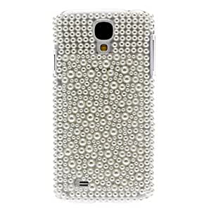JJE Solid White Rhinestone Decorated Hard Case for Samsung Galaxy S4 I9500