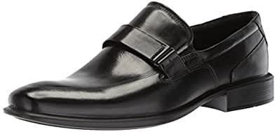 ECCO Men's Cairo Apron Toe Slip On Oxford, Black/Black, 39 EU/5-5.5 M US
