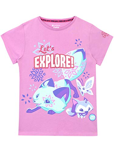 Animal Jam Girls' Fox T-Shirt Size 10 Purple