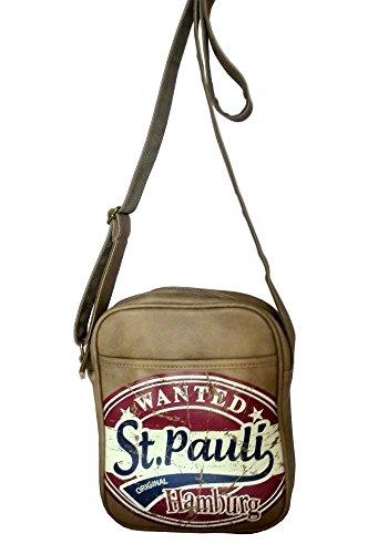 Robin Ruth kleine Retro Tasche/Umhängetasche in braun/rot St. Pauli HAMBURG (Maße: LxHxT 19x23x4cm)