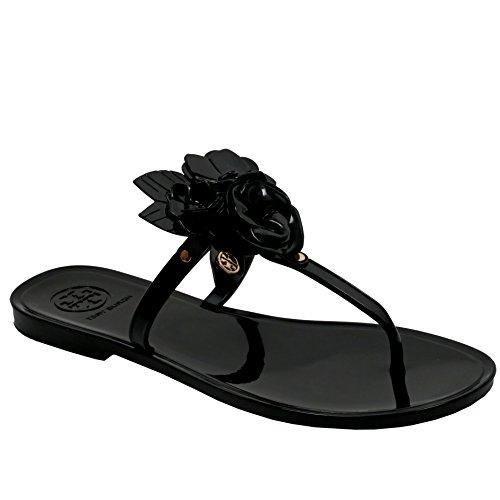 Tory Burch Blossom Thong Sandal Jelly Flip Flop Black XIV0fe5W