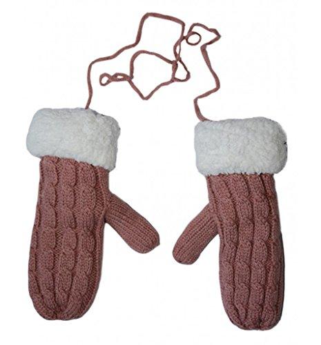 相互接続ミシンシフトレディース暖かいニットふわふわホルターミトン手首手袋