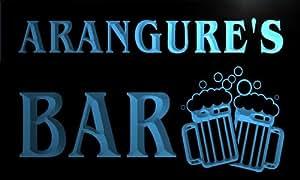w111131-b ARANGURE Name Home Bar Pub Beer Mugs Cheers Neon Light Sign