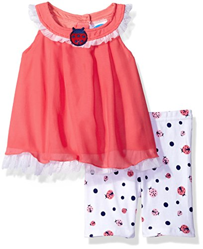 Bon Bebe Baby Girls' 2 Piece Chiffon Dress