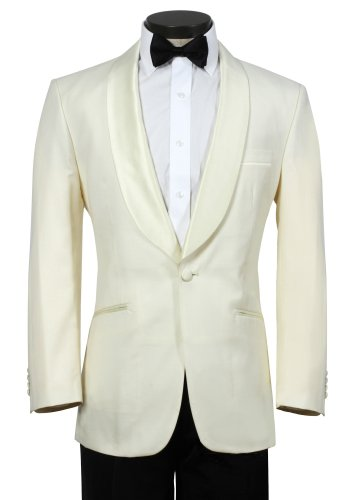 Men's Off White Elegant Dinner Jacket - Super Soft 150's Fabric