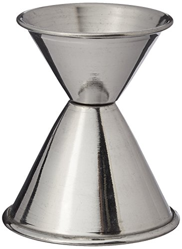 (Tablecraft H1206 Stainless Steel Jigger, 1 oz and 2 oz, Metallic)