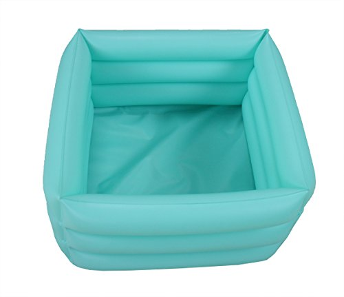 ObboMed HB-1700 Folding Inflatable Portable Travel Spa Foot care bath Basin - Inflated size: 42 x 42 x 18cm/16.5(L) x 16.5(W) x 7.0(H) inches - 16.2L/4.2 Gallons Capacity - Relax Soak Bucket
