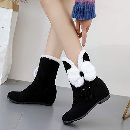 en daim cuir dames compensé Vovotrade pour dames Chaussures et pour Bottines cuir en qCa67pzw