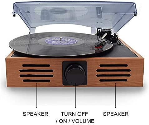 JJSSGGJJLLSSJJ Tocadiscos Equipo de Tocadiscos USB Vinilo LP ...