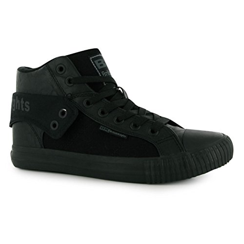 Fashion Trainers Casual Roco Blk PU Fold Sneakers Knights Trainers Mens British nqHX1wI87x