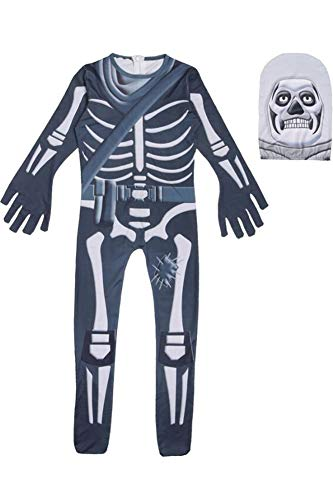BeautifulTimes Halloween Skull Costume Kids Spandex Zentai Bodysuit Mask]()