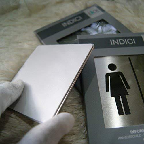 ZACK 50712 - Cartel indicador para baño Masculino y Femenino