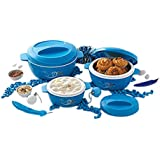 Cello Cuisine Plastic Casserole Gift Set, 3-Pieces, Blue