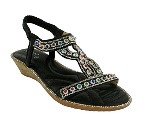 Back Strictly Party Sandal Dorado Ladies Toe Sling Open New Azwfn4zxqI
