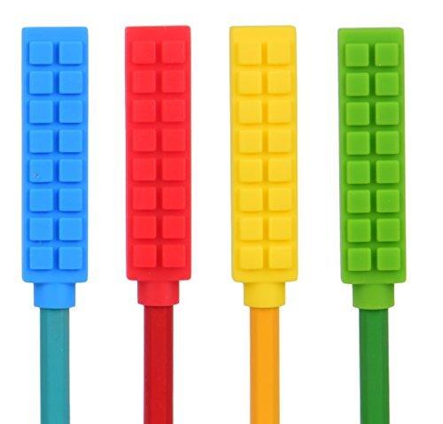 Chewy bloque sensorial Masticar lápiz Toppers masticables estimulación, con textura oral apoyo niños, niñas, niños...