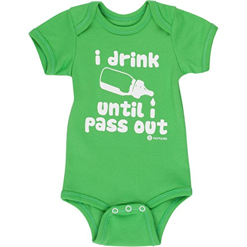 Funny Baby Onesies Baby Gifts Fayfaire Boutique Quality I Drink Until I Pass Out 0-6M