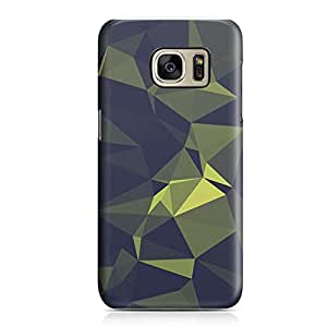 Samsung S7 Edge Case Green Geomaterical Pattern Metal Plate Light Weight Samsung S7 Edge Cover Wrap Around