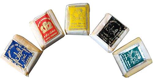 bonballoon 5 Islamic Scents Fragrance Solid Perfume Musk Jamid Natural Organic No (Natural Organic Solid Perfume)