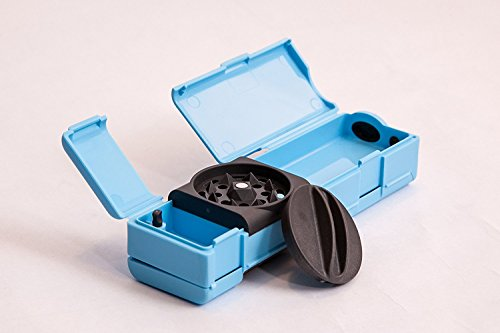 Combie Grind & Roll - Tobacco Grinder, Rolling Paper Wtips & Storage all in one revolutionary tool made of fiber reinforced plastic