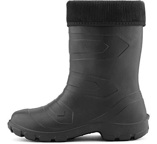 Zapatos LALMG879 Seguridad Negro Ladeheid Antideslizantes de Muy Botas Mujer Agua Ligeras Negro de TTaYxZv