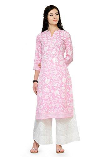 (Indian Women Designer Kurta Kurti Bollywood Tunic Ethnic Pakistani Top Crepe Kurtis Dress Tunics Cotton Tops Blouse Style Long Silk (XXL))