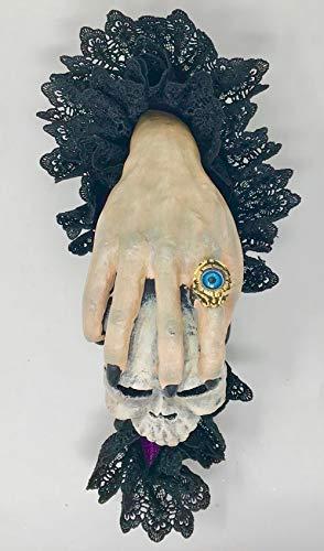 Katherine's Collection witch hand skull door knocker