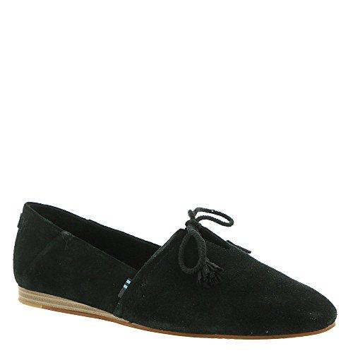 TOMS Women's Kelli Flat Black Suede Size 9 B(M) US
