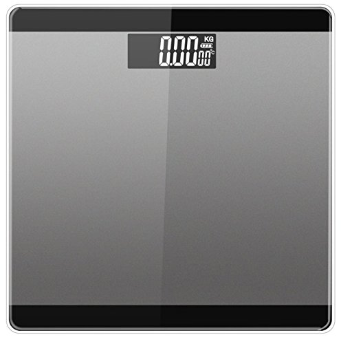 LUOYIMAN Body Weight Scale Digital Electronic Bathroom Scale High Accuracy 180kg/396lb (Black)