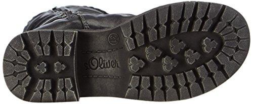 s.Oliver 46601 Mädchen Halbschaft Stiefel Schwarz (Black 001)