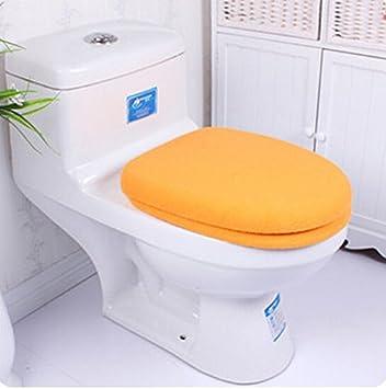 Ensemble WC Orange Tissu Housse de siège de toilette, Housse de ...