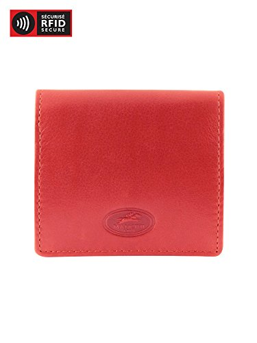 - Mancini Leather Goods Inc Men's Top Grain Polished Drum Dyed Leather Coin Pocket 3.25