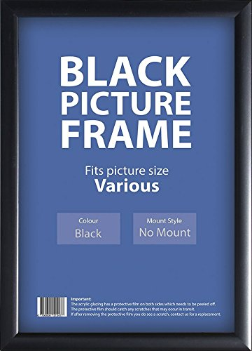 Budget Black Picture Frames , 14 Sizes : A4, A3, A2 , A1 (4 x 6 ...