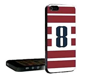USA Red and White Stripe Soccer Jersey #8 iphone 6 4.7 Back Case Cover