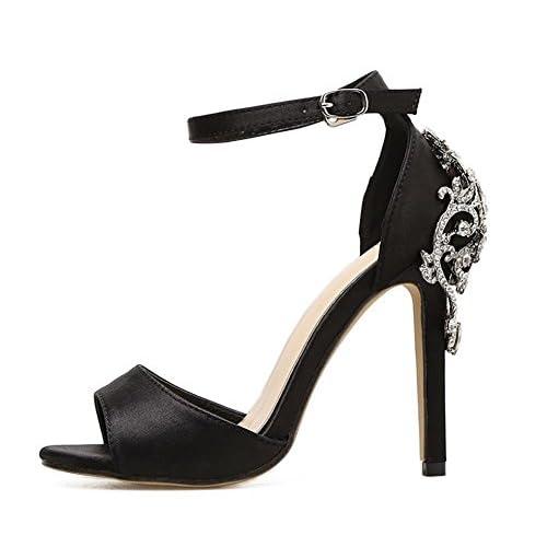 De Sandalias Sexy Tacón Stiletto Gaihu Peep Señoras Zapatos Mujer DEWIH92