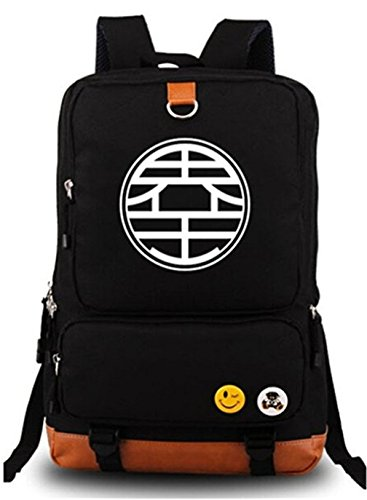 Gumstyle Anime Dragon Ball Luminous Large Capacity School Bag Cosplay Backpack Black and Blue