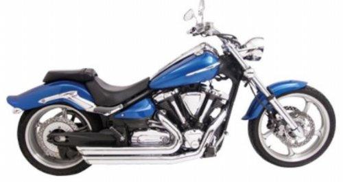 Amendment Exhaust System - Freedom Performance MY00058 Amendment Exhaust System - Slash-Out - Chrome , Color: Chrome