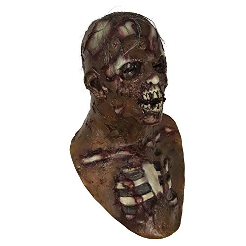 Scary Resident Evil Zombie Mask, Walking Dead Costume, Bloody Living Dead Props for Halloween