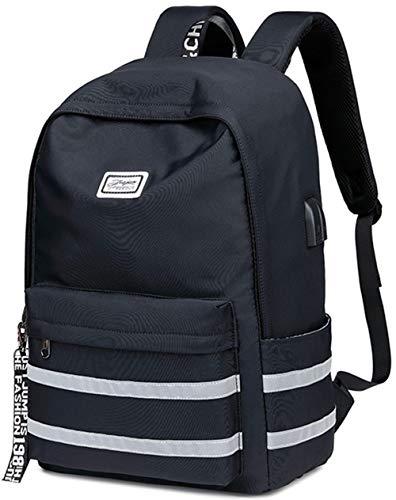 Travel Laptop Backpacks Womens Men College Backpack School Bag 15.6 inch USB Daypack Outdoor(9301 Black)
