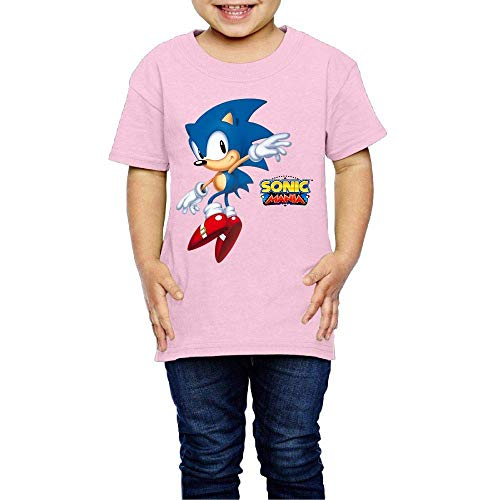 Price comparison product image Washed Cotton Baby Boy Girls Shirt Son-ic - Man-ia Cute Toddler Kids Summer T Shirt Funny Pink