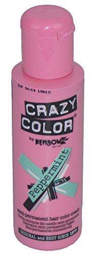Crazy Color Semi Permanent Hair dye Cream 100ml Peppermint