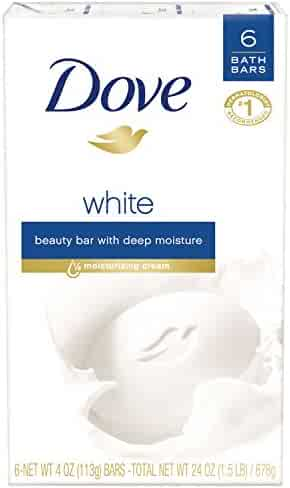 Dove Beauty Bar, White 4 oz, 6 Bar