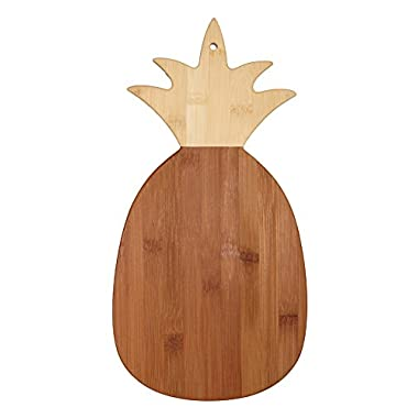 Totally Bamboo Pineapple Shaped Bamboo Cutting & Serving Board, 14.5  Long